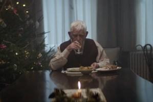 Sad Old Man at Christmas