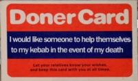 Doner Kebab Card